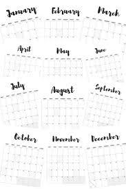 printable calendar 2017 for planner 12 best printable calendars images on pinterest calendar 2018
