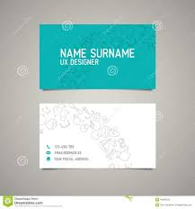 ux report template modern simple business card template for ux designer stock vector