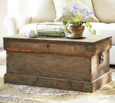 Vintage Trunk Coffee Table Pottery Barn Knock Trunk Coffee Table Follow The
