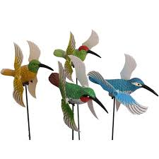osgoodway 4pcs set hummingbird plastic garden decoration ornaments