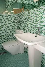 bathroom glass tile ideas parisian blend glass mosaic subway tile bathroom image from a