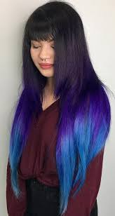 weave hairstyles with purple tips 40 ombre hair color and style ideas