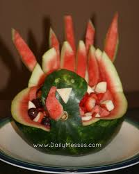 daily messes turkey fruit bowl