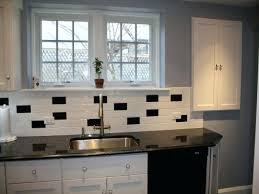 Classic Black And White Kitchen White Subway Tile Backsplash Ideas Black And White Subway Tile