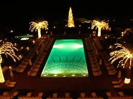 panoramio photo of bellagio swimming pool at night
