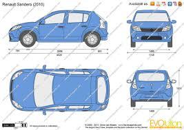 renault sandero 2011 the blueprints com vector drawing renault sandero