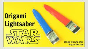 star wars crafts origami lightsaber star wars origami diy