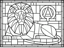 stained glass coloring pages free printables coloring home