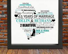 15 year wedding anniversary gift personalized 15th wedding anniversary 15 years anniversary gift