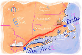 Boston Vs New York Map by Boston Eater