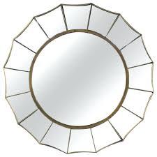 Midcentury Modern Mirror Wall Mirrors Nate Berkus Studded Wall Mirror Mid Century Modern