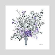 Flowers By Violet - purple flowers an art print by vikki chu inprnt