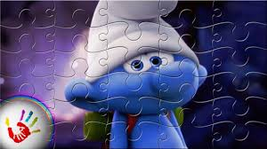 clumsy smurf smurfs lost village puzzle video kids coloring