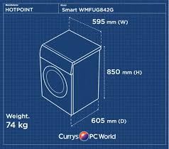 buy hotpoint smart wmfug842g washing machine graphite aquarius