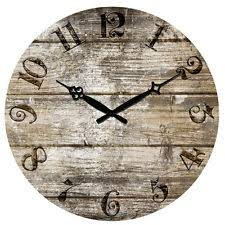 wall clock 12 purple eiffel rustic decor retro shabby home kitchen