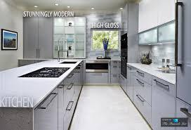black high gloss wood large cabinet gray kitchen cabinets modern
