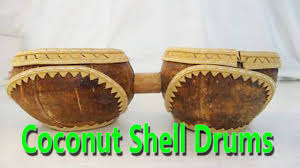 hand made coconut shell drums best from waste material hand