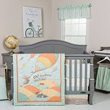 Green And White Crib Bedding Trend Lab Dr Seuss Oh The Places You Ll Go Unisex 5