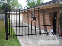 iron fence gate alamo arch summit fence south