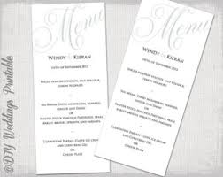 wedding menu template gold scroll diy wedding menu