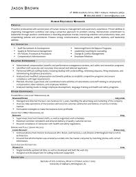 Human Resource Sample Resume by Sample Resume For Hr Manager Human Resources Training And