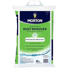 Water Softener Faucet Amazon Com Morton Rust Remover Water Softening Pellets 40 Lbs
