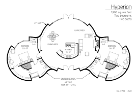 Two Bedroom Floor Plan by Floor Plans 2 Bedrooms Monolithic Dome Institute