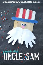 popsicle stick uncle sam kid craft craft july crafts and