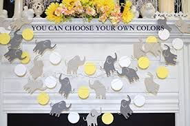 yellow and gray baby shower decorations elephant baby shower garland elephant birthday banner