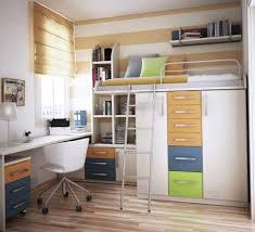 white frame mirror above white drawer small bedroom design ideas