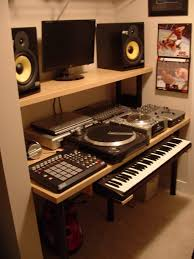 recording studio workstation desk studio deskea compact music hackers furniture workstation