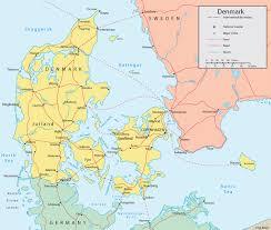 thames river map europe denmark