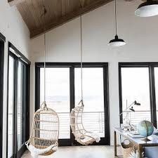Chair That Hangs From Ceiling Living Room Vaulted Ceiling Design Ideas