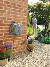 hozelock 30m wall mounted reel with 15m hose amazon co uk garden