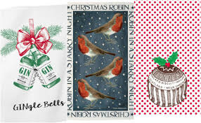 Now Designs Kitchen Towels 15 Best Christmas Tea Towels Christmas Kitchen Accessories