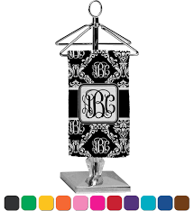 Damask Bathroom Accessories Monogrammed Damask Finger Tip Towel Full Print Personalized