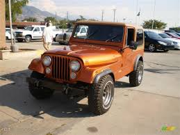 orange jeep cj orange metallic 1985 jeep cj7 4x4 exterior photo 23225049
