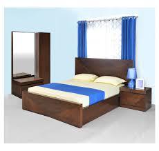 buy nixon king size bedroom set home by nilkamal cherry online