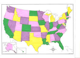 Color Map Of The United States by Greatly Blessed Homeschool Week 4