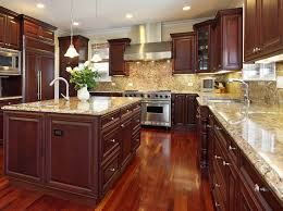 kitchen granite and backsplash ideas consider installing veined granite tiles that will provide a rich