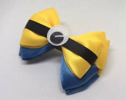 minion ribbon minion bow etsy