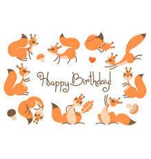 cute happy birthday card with funny puppy loving vector image