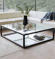 contemporary square glass coffee table contemporary nash square coffee table reviews birch lane pertaining