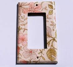 Decorative Wall Plate Covers Decorative Wall Plate Covers In Ivory Floral Home Interior