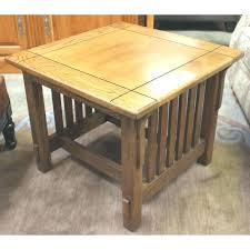 solid oak mission style coffee table mission solid oak 3 piece coffee and end table set oak mission