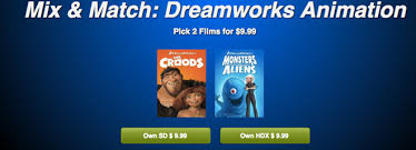 9 99 for two dreamworks animation hdx movie downloads at vudu