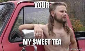 Sweet Tea Meme - your my sweet tea almost politically correct redneck make a meme