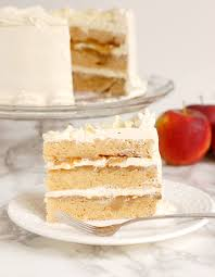 apple upside down layer cake with maple buttercream baking sense