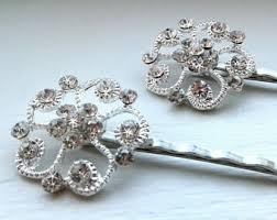 Silver Decorative Accessories Decorative Hair Pins Etsy