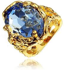 big stones rings images Souq blue big stone ring yellow gold plated statement ring size jpg